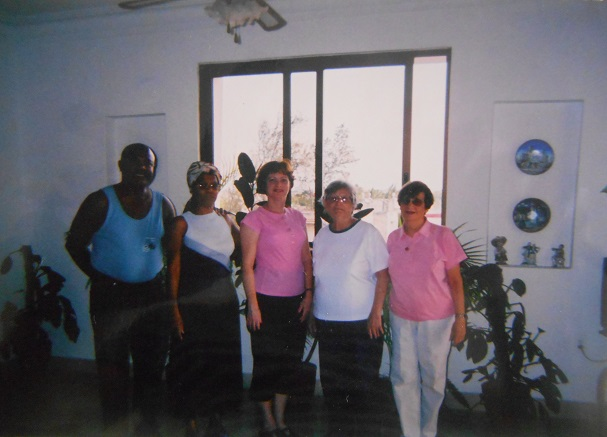 José and Marta with friends. Casa José Marta, Miramar, Havana, Cuba